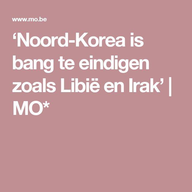 'Noord-Korea is bang te eindigen zoals Libië en Irak' | MO*