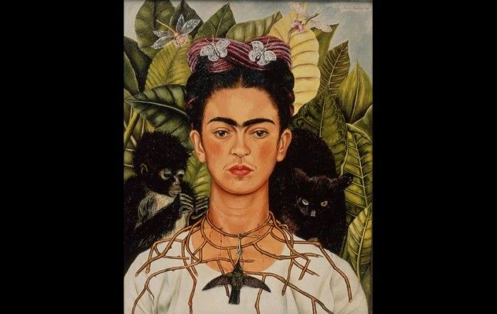 """Frida Kahlo's """"Self-portrait With Thorn Necklace And Hummingbird"""" Portrays Her Own Suffering"""