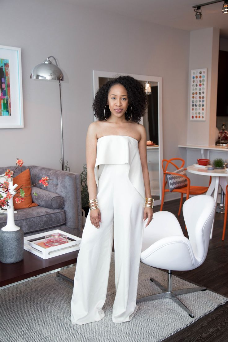 White Jumpsuit + Gold Cuffs — Mattieologie