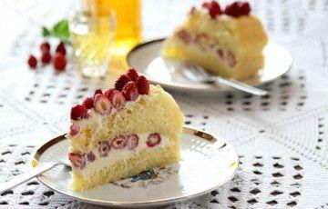 Torta con fragoline, mascarpone e limoncello