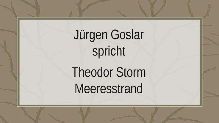 "Theodor Storm ""Meeresstrand"""