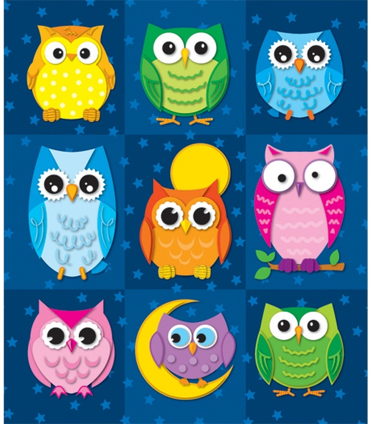 Colorful Owls Prize Pack Stickers   Classroom décor from Carson-Dellosa