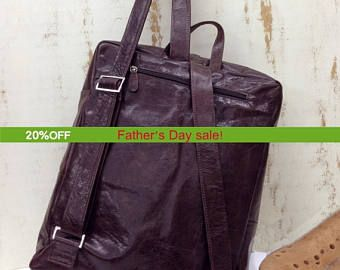 """Sale!!! 15"""" Leather backpack Laptop backpack Macbook bag backpack for man Women Lap top bag Fit lap top up to 15.6"""" size by limorgalili. Explore more products on http://limorgalili.etsy.com"""