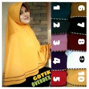 Jilbab Syar'i Gotik Overdeck  http://bundaku.net/pakaian-wanita/jilbab/jilbab-syari-gotik-overdeck
