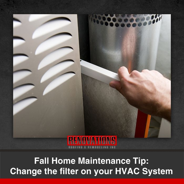 Home Maintenance Tip: Change your home's heating, ventilating, and air conditioning (HVAC) system air filter regularly.  Check your filter every month, especially during heavy use months (winter and summer). If the filter looks dirty after a month, change it. At a minimum, change the filter every 3 months.