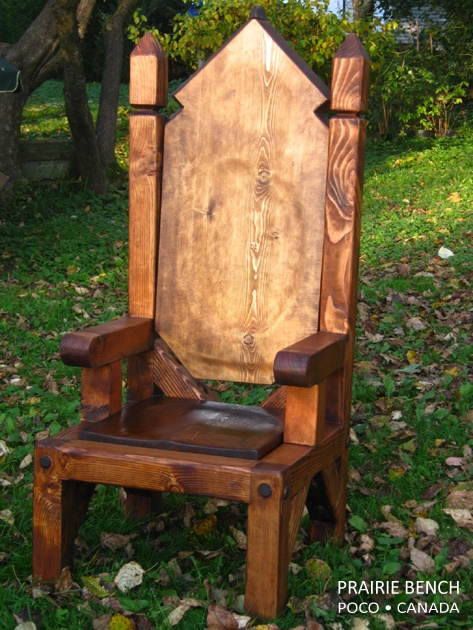 DIY throne - I would add sooo much to this... :)