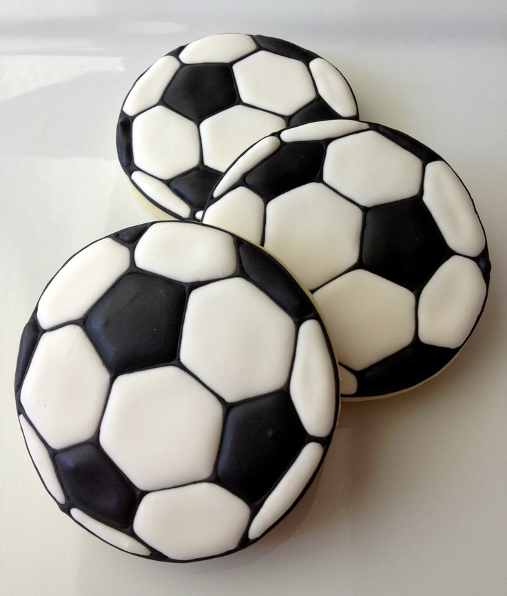 Soccer ball cookies.                                                                                                                                                     More