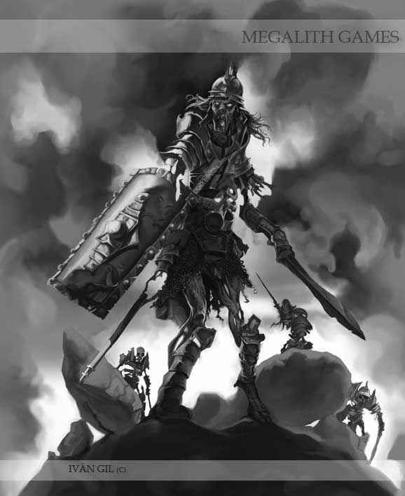 Ivan Gil artwork for Godslayer miniature game.