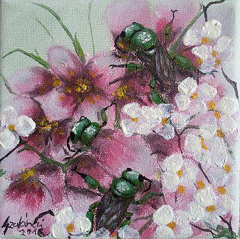 Golden bees by Judit Szalanczi