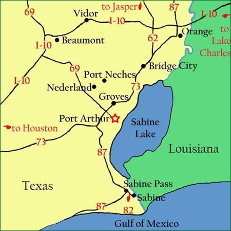 Port Arthur, Texas - and surrounding areas...