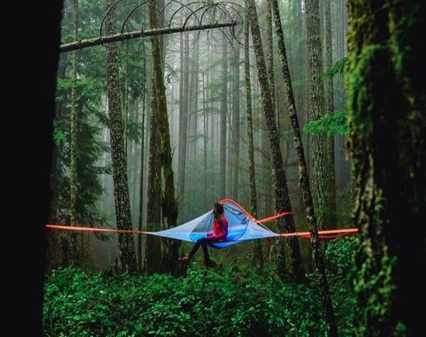 Supercool #TreeTent from #Tentsile   Wherever you are, whether in a dense forest, on the sea shore, on the mountains or on the bank of river. Tentsile provides an awesome solution with this tree #tent. There are four variants ranging from 150 USD to 650 USD.  Source: Tentsile website #ThrillThrush #TravellersFeet #TravelTips #TravelGadgets #TravelGears