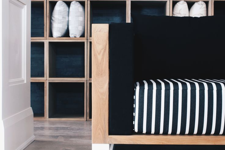 great combinations of high quality textiles and woods