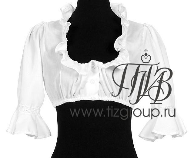 Белая укороченная блузка