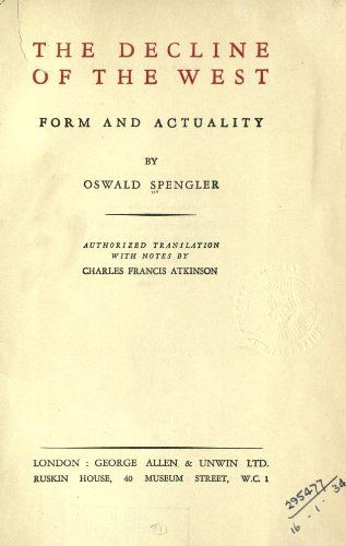 The decline of the West by Oswald Spengler https://www.amazon.com/dp/B008I6GW28/ref=cm_sw_r_pi_dp_x_Rnlpyb3F7T2F8