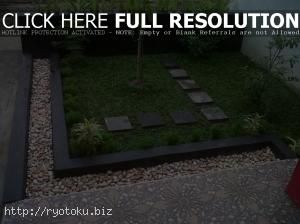 desain taman minimalis di dalam rumah 006