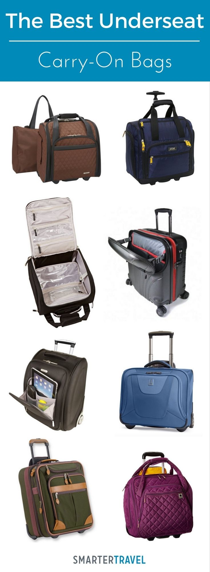 If you're worried your carry-on could be gate-checked on your next flight, check out these 10 top-rated underseat carry-on bags.