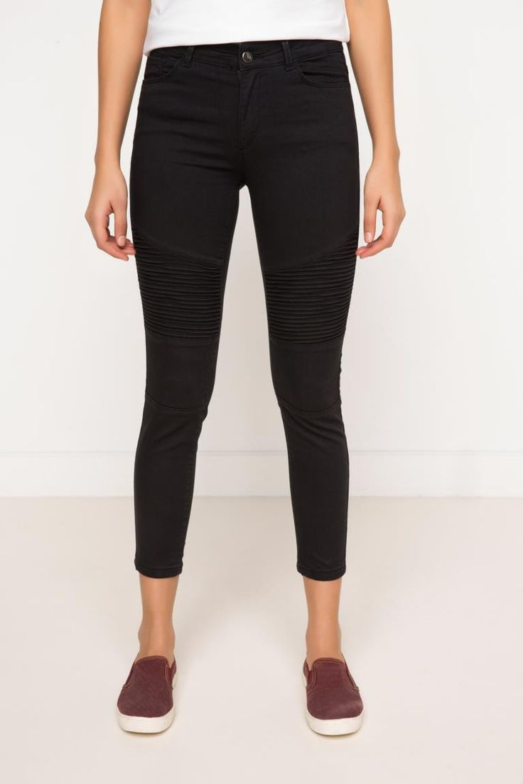 DeFacto Siyah Kadın Agata Süper Skinny Denim Pantolon 1