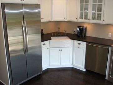 Syosset Condo Kitchen Small Corner Apron Sink Condo