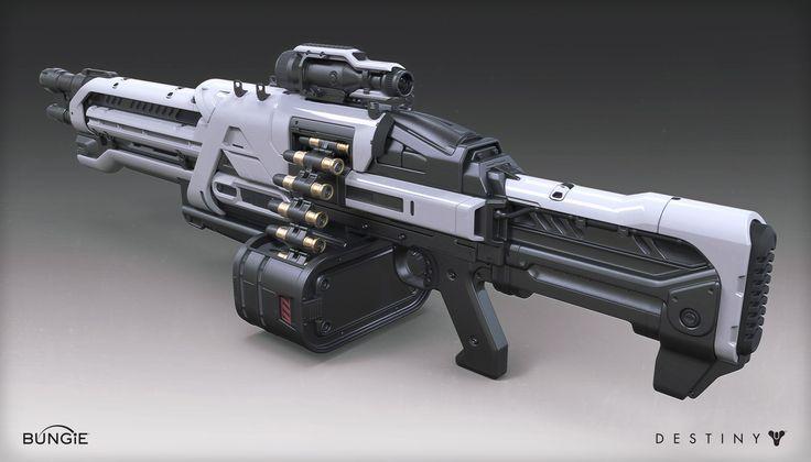 ArtStation - Destiny - House of Wolves - Machine Gun, Mark Van Haitsma