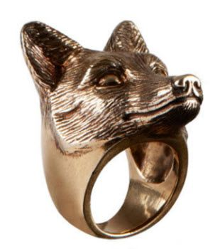 Burberry creates Brass Fox and Owl jewelry pieces for Fall 2012 collection: Brass Foxes, Owl Jewelry, 502 Rings, Burberry Prorsum, Prorsum Foxes, Foxes Rings, Jewelry Pieces, De Burberry, Bagu Renard