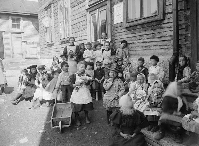 At a kindergarten in Helsinki, Finland, ca. 1890 ~ vintage everyday