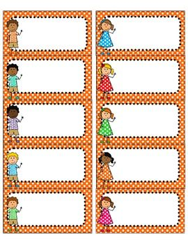 Bright Polka Dot and Kids Avery 5163 Labels {Editable}