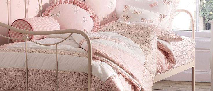 Bella Butterfly Pink Cotton Bedset at Laura Ashley