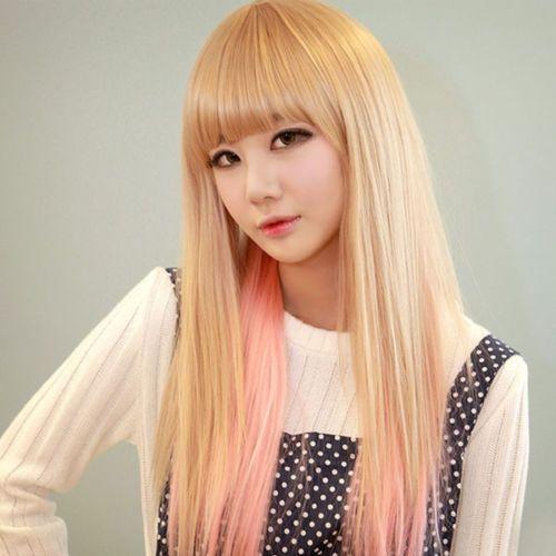 Хорошее USPS в сша женщины популярный стиль длинные полные прямые светлые волосы косплей ну вечеринку сексуальные парики s0999