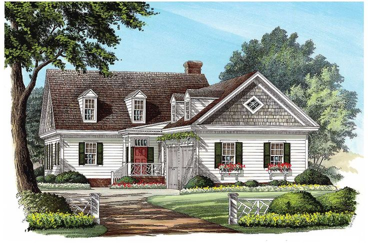 L Shaped Cape Cod Home Plan Colonial House Plans House