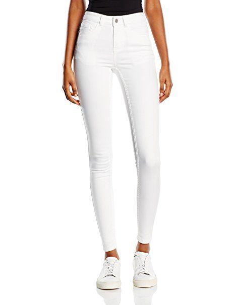 PIECES Damen Skinny Hose JUST JUTE R.M.W. LEGGING/BWHI NOOS, Gr. 42 (Herstellergröße: L/XL), Weiß (Bright White) #mode #fashion #sale #lookgood #jeans #modern #lady