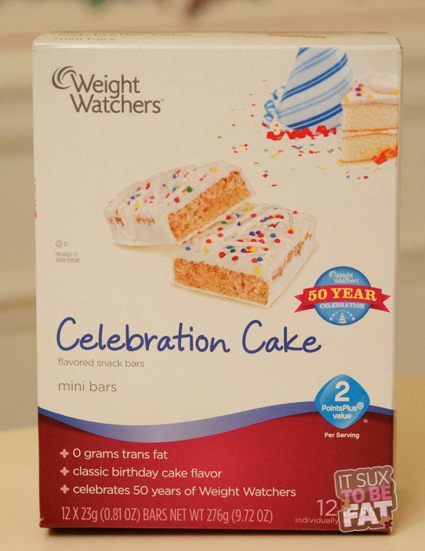 Weight Watchers Celebration Cake Mini Bar - LOVE