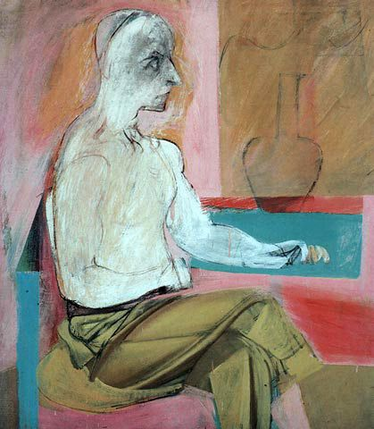 Willem de Kooning Seated Man  1939 Whitney Museum of American Art