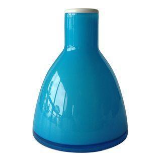 Holmegaard Per Lutken Cerulean Blue Vase