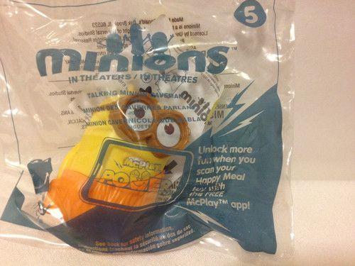 McDonald's 2015 Talking Minion Toy #5 Caveman Minion HTF