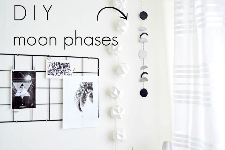 DIY - Dekoracja Fazy Księżyca. DIY - Moon Phases | Cleo-inspire Blog