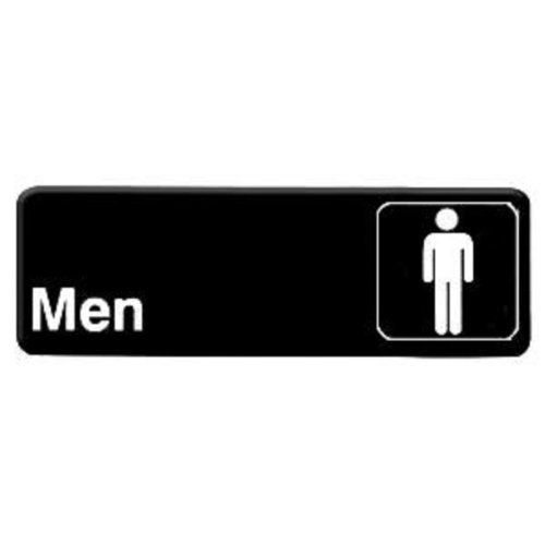 """3x9 Restaurant Sign, Black, Men, by Thunder Group. $5.99. 9"""" x 3"""" information sign with symbols Self adhesive backing for easy mounting"""