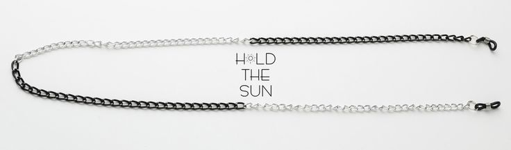MOON • Sunglasses chain in black and white. • Inspired by everybody out there who have a bright and a dark side like the moon. • Attachments are adjustable to fit any size eyewear frame by sliding the metal spring up & down. #sunglasses #sun #holdthesun #sunglasseschain #sunglassesstrap #greece #fashion