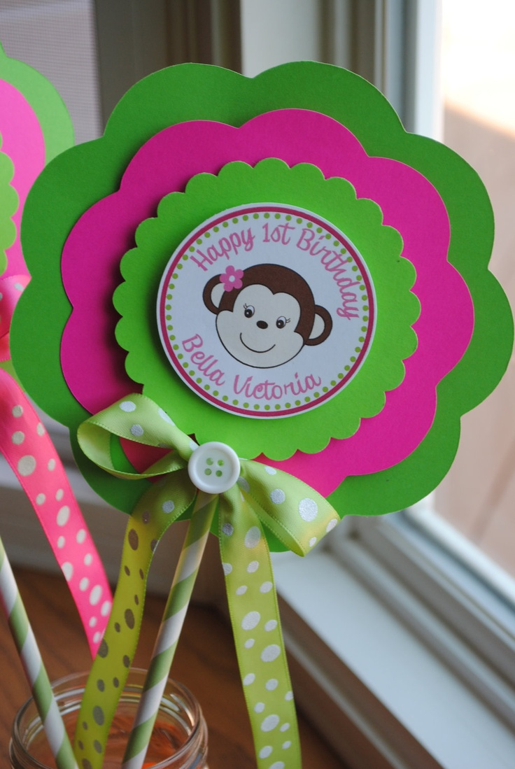 NEW - XL Mod Monkey Girl Centerpiece. $8.50, via Etsy.
