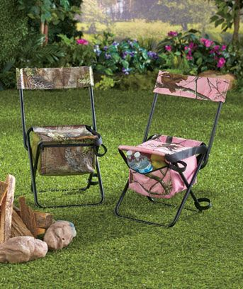 Take along this realtree camo sports chair when you for Pink camo fishing pole