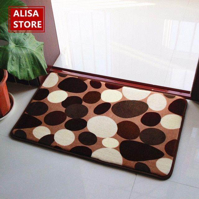 Soft Cotton Quick Dry Bathroom Mat Anti Slip Modern Bathroom Rug