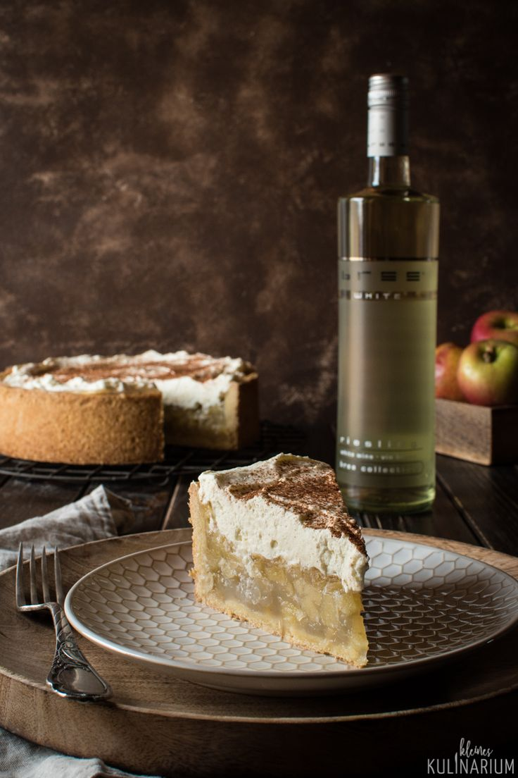 Apfel-Wein-Torte - der beste Apfelkuchen, den es gibt {Werbung} BREE Wein #breewein #weinliebe