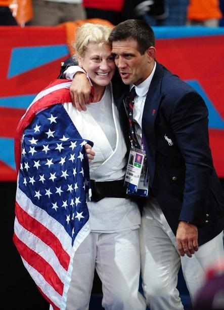 Olympics Day 6 - Judo  Kayla Harrison & Coach