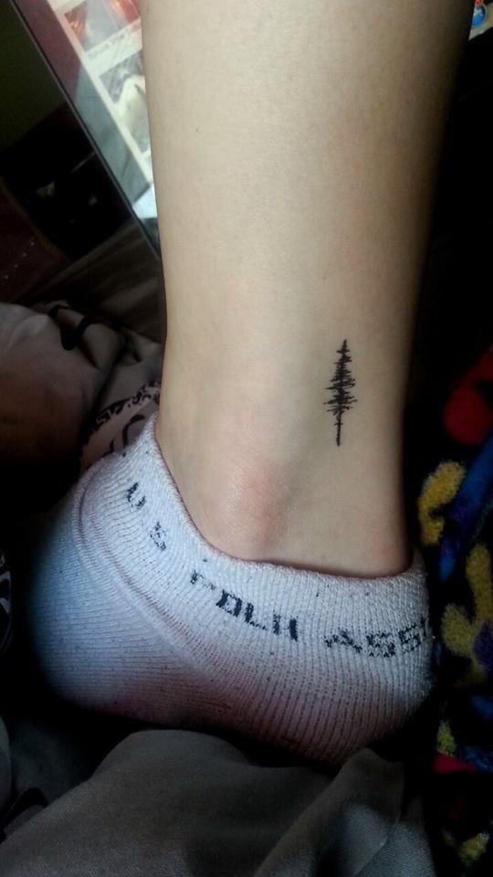 Image result for small pine tree tattoos