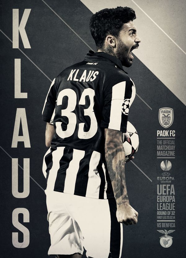 PAOK FC MATCHDAY MAGAZINE COVER on Behance