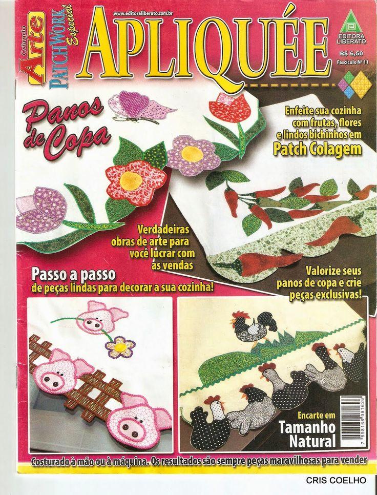Aplique paraPatchwork flores