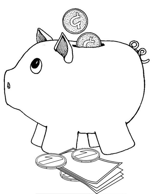 Deposit Piggy Bank Coloring Page Coloring Pages Piggy Bank Piggy