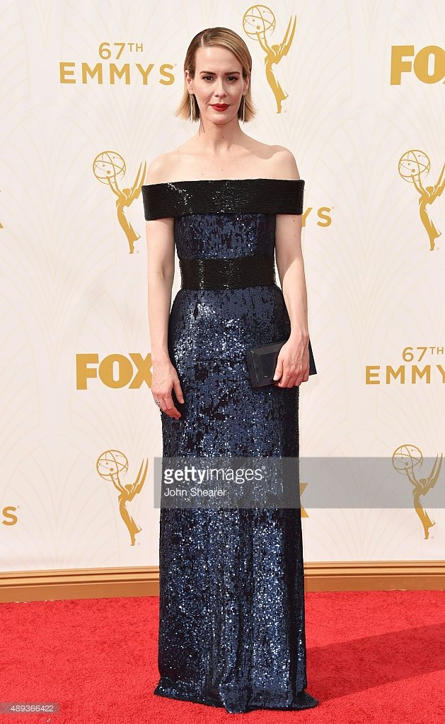 Actress Sarah Paulson attends the 67th Annual Primetime Emmy Awards at Microsoft Theater on September 20, 2015 in Los Angeles, California.