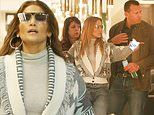 Jennifer Lopez indulges in post-Christmas shopping with fiance Alex Rodriguez in Los Angeles