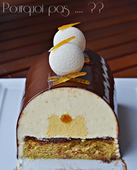 Buche clémentine / pain d'épices / yaourt / chocolat