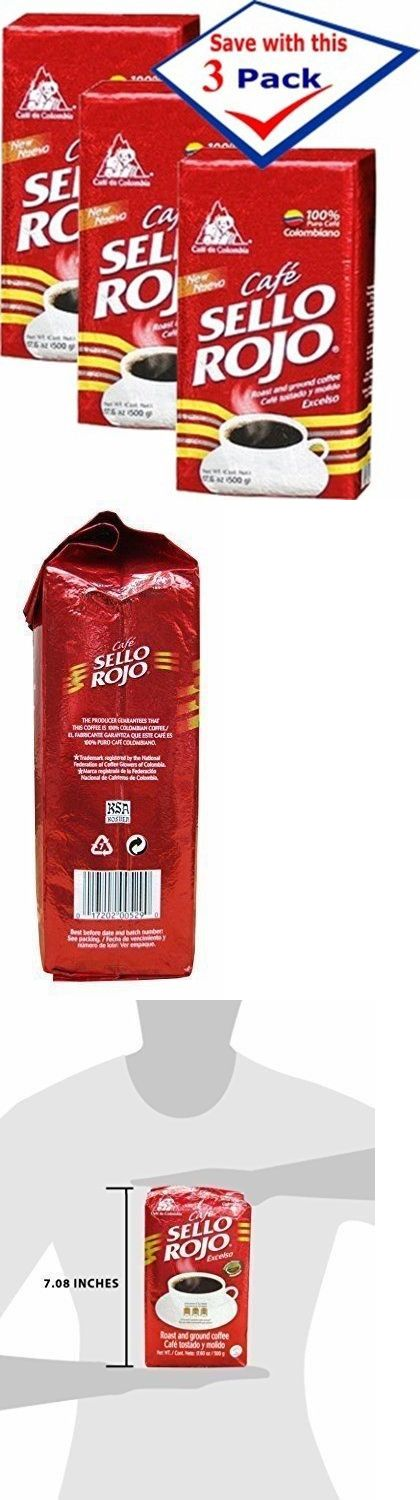 Ground Coffee 79629: Cafe Sello Rojo Roast And Ground Coffee, Pack Of 3 17.6 Oz Bricks -> BUY IT NOW ONLY: $37.69 on eBay!